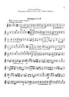 Nr.2, 7: Für Orchester – Trompetestimmen by Johannes Brahms