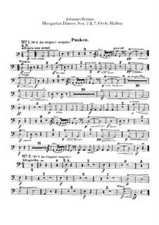 Nr.2, 7: Für Orchester – Schlagzeugstimmen by Johannes Brahms