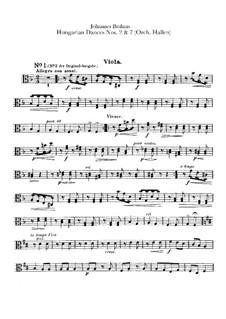 Nr.2, 7: Für Orchester – Bratschenstimme by Johannes Brahms