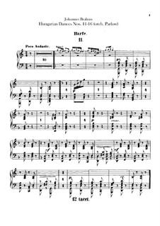 Nr.11-16: Für Orchester – Harfestimme by Johannes Brahms