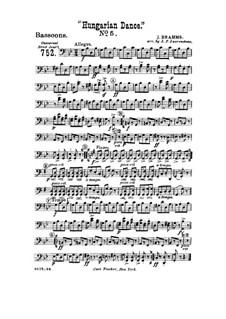 Tanz Nr.5 in fis-Moll: Für Blasorchester – Fagottstimmen by Johannes Brahms