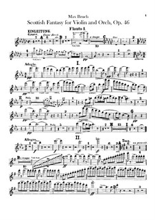 Schottische Fantasie für Violine und Orchester, Op.46: Flötenstimmen by Max Bruch