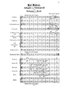 Kol Nidre, Op.47: Für Cello und Orchester by Max Bruch