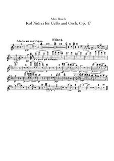 Kol Nidre, Op.47: Flötenstimme by Max Bruch