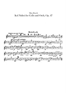 Kol Nidre, Op.47: Hörnerstimmen by Max Bruch