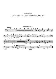 Kol Nidre, Op.47: Paukenstimme by Max Bruch