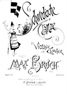 Schwedische Tänze, Op.63: No.8-15 – Partitur und Stimme by Max Bruch