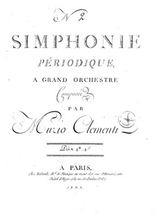 Sinfonie Nr.2 in D-Dur, Op.18: Violinstimme I by Muzio Clementi