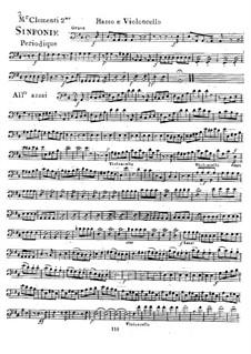 Sinfonie Nr.2 in D-Dur, Op.18: Cello- und Kontrabass-Stimme by Muzio Clementi