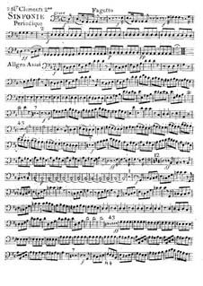 Sinfonie Nr.2 in D-Dur, Op.18: Fagottstimme by Muzio Clementi