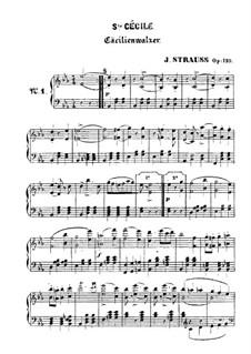 Cäcilienwalzer, Op.120: Cäcilienwalzer by Johann Strauss (Sohn)
