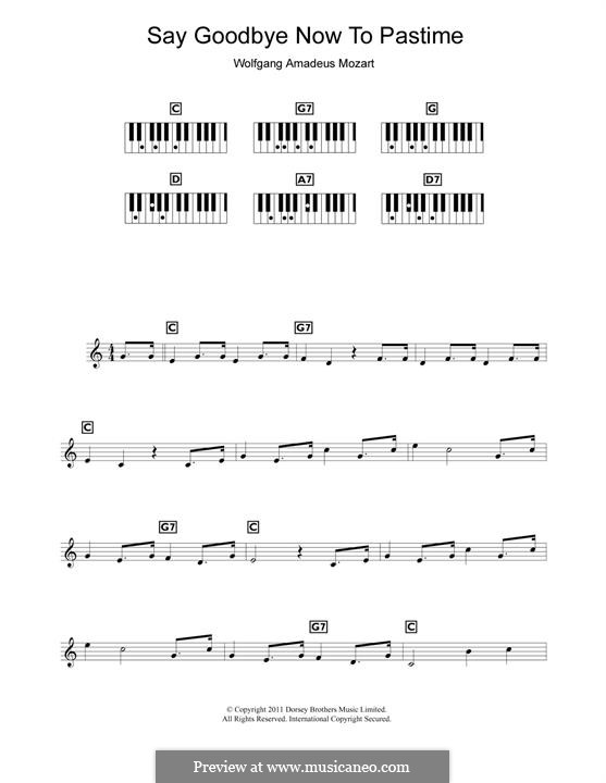 Non più andrai (Now no More): Für Klavier by Wolfgang Amadeus Mozart