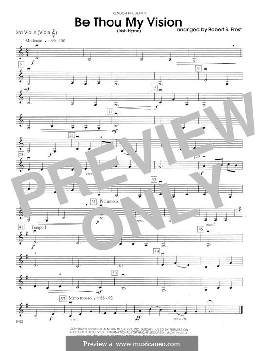 Be Thou My Vision (Printable scores): Violin 3 (Viola T.C.) part by folklore