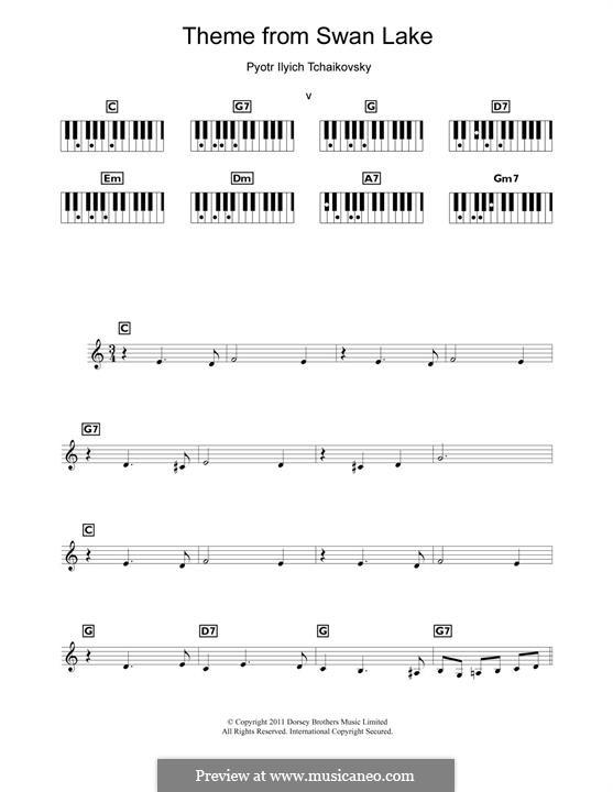 Nr.14 Scène: Arrangement for piano (Theme) by Pjotr Tschaikowski
