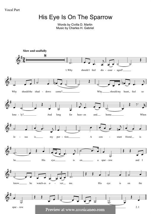 His Eye Is on the Sparrow (Ethel Waters): Für Keyboard by Charles Hutchinson Gabriel