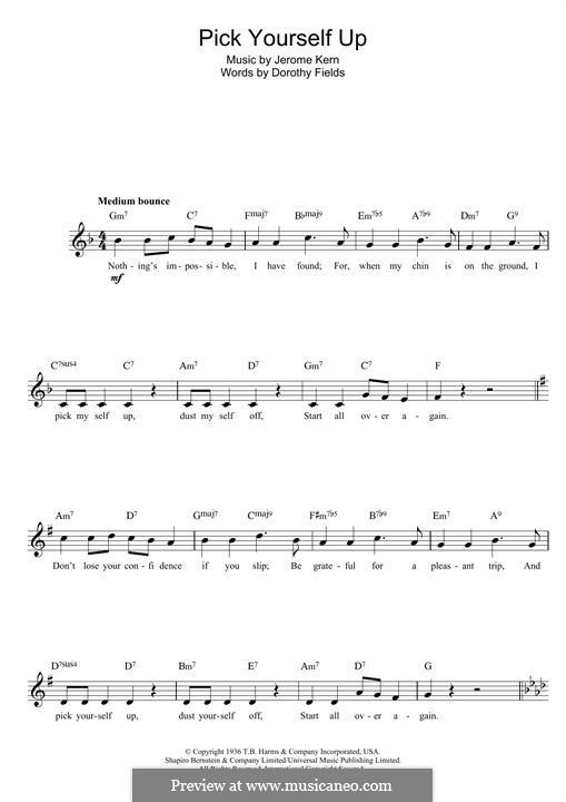 Pick Yourself Up: Für Keyboard by Jerome Kern