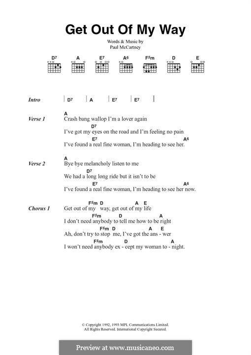 Get Out of My Way: Für Gitarre by Paul McCartney