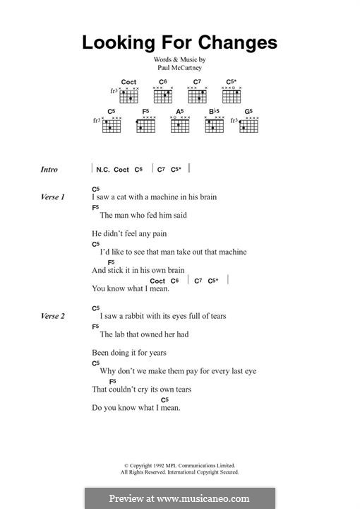 Looking for Changes: Für Gitarre by Paul McCartney