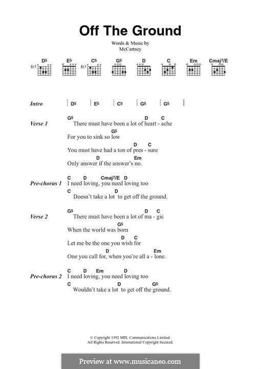 Off the Ground: Für Gitarre by Paul McCartney