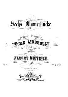 Sechs Klavierstücke, Op.6: Heft I, Nr.1-3 by Albert Hermann Dietrich