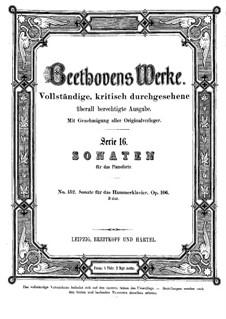 Sonate für Klavier Nr.29, Op.106: Für einen Interpreten by Ludwig van Beethoven
