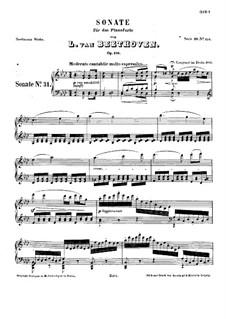 Sonate für Klavier Nr.31, Op.110: Für einen Interpreten by Ludwig van Beethoven