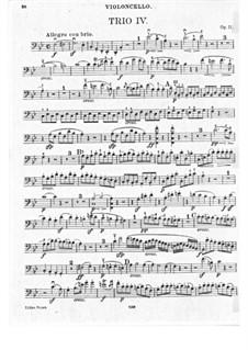 Trio für Klarinette, Cello und Klavier Nr.4 'Gassenhauer', Op.11: Cellostimme by Ludwig van Beethoven