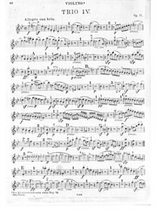 Trio für Klarinette, Cello und Klavier Nr.4 'Gassenhauer', Op.11: Violinstimme by Ludwig van Beethoven