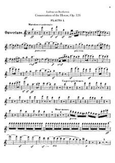 Die Weihe des Hauses, Op.124: Flötenstimme I-II by Ludwig van Beethoven