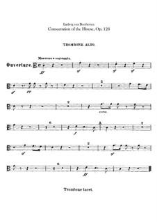 Die Weihe des Hauses, Op.124: Posaunenstimmen by Ludwig van Beethoven