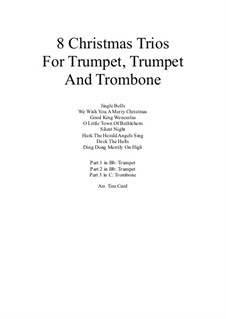 8 Christmas Trios: For trumpet, trumpet and trombone by folklore