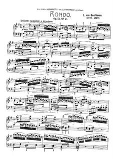 Zwei Rondos für Klavier, Op.51: Rondo Nr.2 by Ludwig van Beethoven