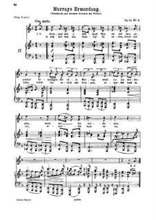 Romanzen und Lieder, Op.14: Nr.3 Murrays Ermordung by Johannes Brahms