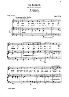 Romanzen und Lieder, Op.14: Nr.4 Ein Sonnett by Johannes Brahms