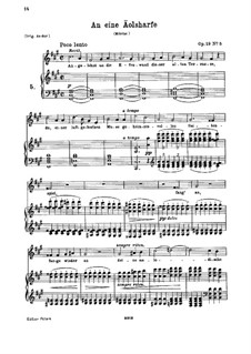 Fünf Gedichte, Op.19: Nr.5 An eine Äolsharfe by Johannes Brahms