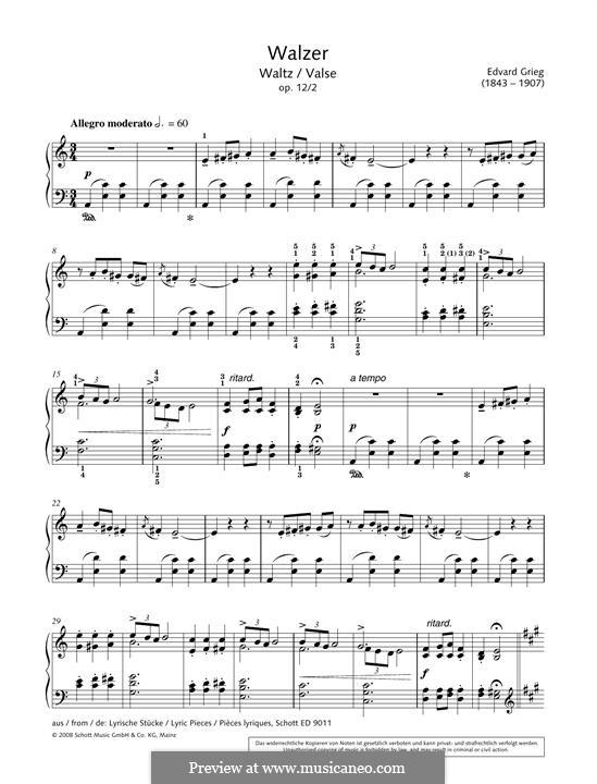 Lyrische Stücke, Op.12: Nr.2 Walzer by Edvard Grieg