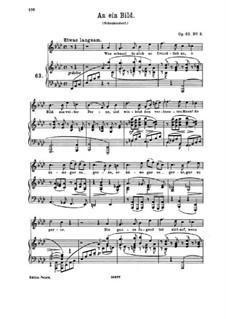 Lieder und Gesänge, Op.63: Nr.3 An ein Bild by Johannes Brahms