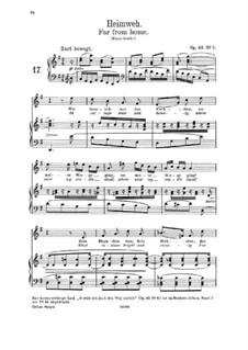 Lieder und Gesänge, Op.63: Nr.7 Heimweh  by Johannes Brahms