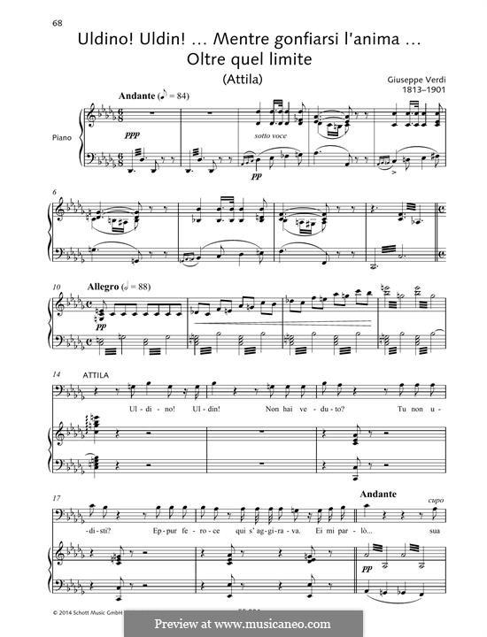 Attila: Uldino! Uldin!... Mentre gonfiarsi l'anima... Oltre quel limite by Giuseppe Verdi
