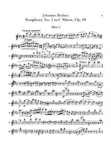 Sinfonie Nr.1 in c-Moll, Op.68: Oboenstimmen by Johannes Brahms