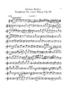 Sinfonie Nr.1 in c-Moll, Op.68: Klarinettenstimmen by Johannes Brahms