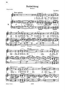 Sechs Lieder, Op.6: Nr.3 Nachwirkung by Johannes Brahms