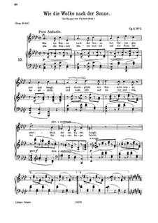 Sechs Lieder, Op.6: Nr.5 Wie die Wolke nach der Sonne by Johannes Brahms