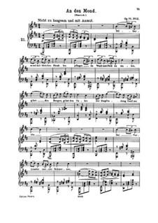 Fünf Lieder, Op.71: Nr.2 An den Mond by Johannes Brahms