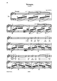Fünf Lieder, Op.72: Nr.4 Verzagen by Johannes Brahms