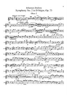 Vollständiger Satz: Oboenstimmen by Johannes Brahms