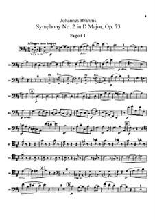 Vollständiger Satz: Fagottstimmen by Johannes Brahms