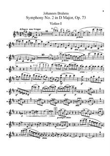 Vollständiger Satz: Violinstimme I by Johannes Brahms