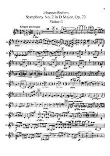 Vollständiger Satz: Violinstimme II by Johannes Brahms