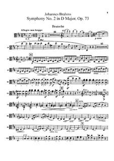 Vollständiger Satz: Bratschenstimme by Johannes Brahms